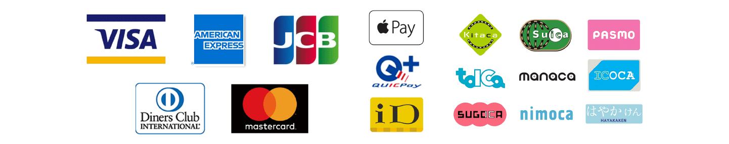 クレジットカードの使用可能です