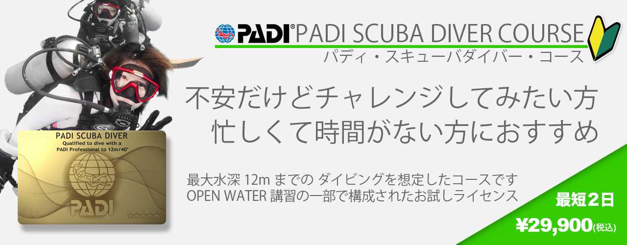 ダイビングライセンス/スキューバダイバーコース/福岡の海で開催可能